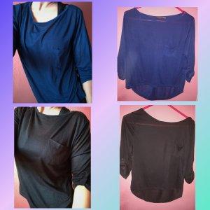 Duo Shirts Blusen von Atmosphere Gr.32/34 blau, schwarz
