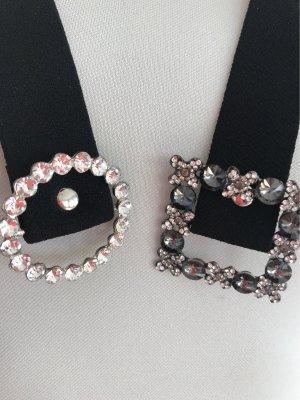 Duo Stoffgürtel mit Kristallen