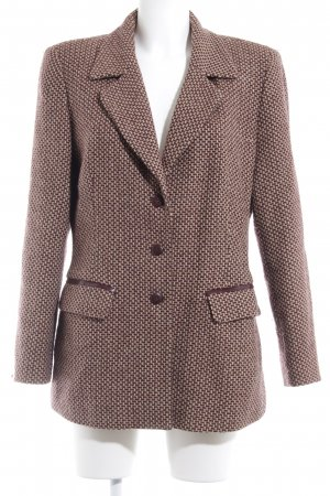 DUO Woll-Blazer grafisches Muster Vintage-Look