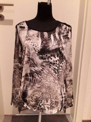 durchscheinendes Shirt von Liberty - schwarz, grau - Größe M