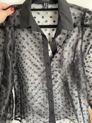 New Look Blouse transparente noir