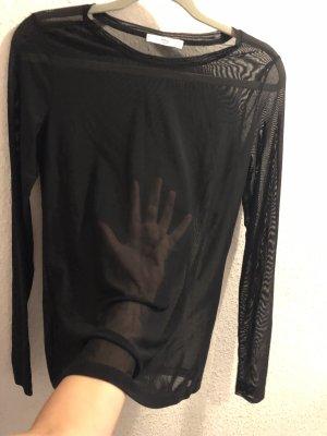 Durchsichtig transparent schwarz Pullover