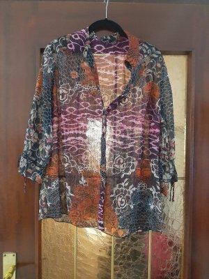 Bexleys Short Sleeved Blouse black-grey lilac