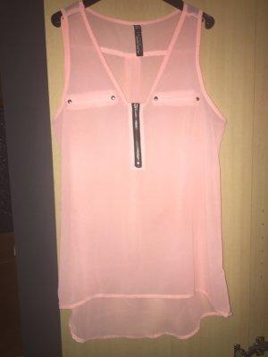 Blind Date Transparante blouse roze