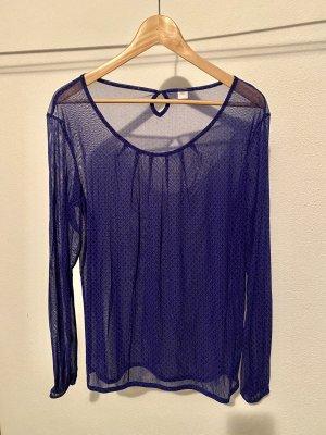 durchsichtige Bluse in leuchtendem blau