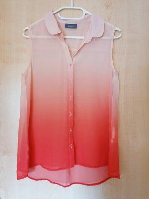 Durchsichtige Bluse mit Farbverlauf