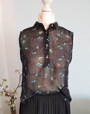 durchsichtige Bluse mit Palmenmuster von Pull&Bear