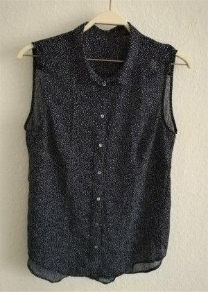 Durchsichtige Chiffon-Bluse ohne Arm