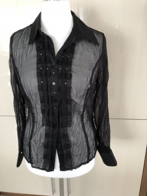 Bonita Blouse en crash noir
