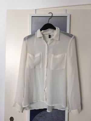 Durchsichtige weiße Bluse