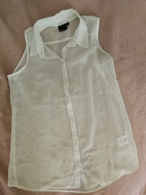 durchsichtige weiße Bluse gr. m