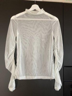 Patrizia Pepe Mesh Shirt pale green-natural white