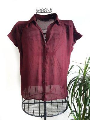 Durchsichtiges Hemd in weinrot