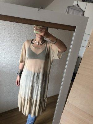 Sukienka boho nude
