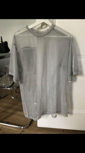 H&M Chemisier grigio chiaro-argento