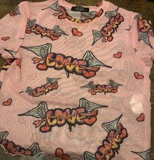 Bershka Camisa recortada multicolor Poliéster