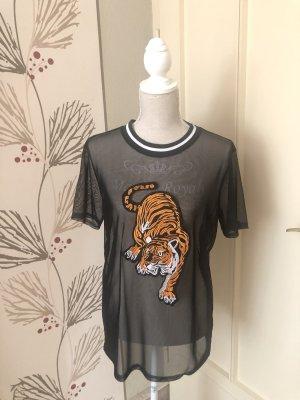 Durchsichtiges Shirt mit Print