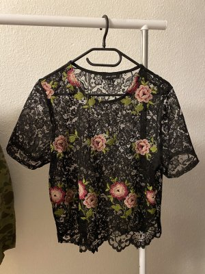 New Look Mesh Shirt black-pink