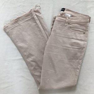 Armani Lage taille broek lichtroze-stoffig roze