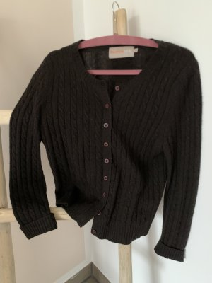 Wełniany sweter ciemnobrązowy