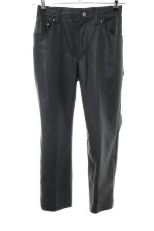 Lederhose schwarz Casual-Look