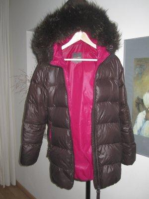 Duvetica Manteau en duvet brun noir-magenta