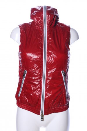 Duvetica Hooded Vest red casual look