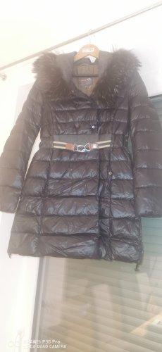 Duvetica Manteau mi-saison gris anthracite-noir tissu mixte
