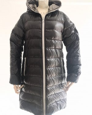 Duvetica Manteau en duvet brun foncé-gris nylon