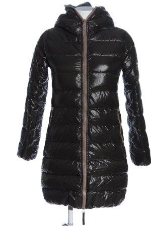 Duvetica Veste mi-saison noir motif de courtepointe style décontracté