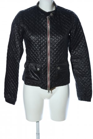 Duvetica Wraparound Jacket black quilting pattern casual look