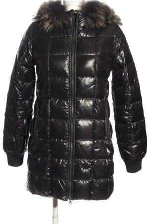 Duvetica Winter Coat black quilting pattern casual look