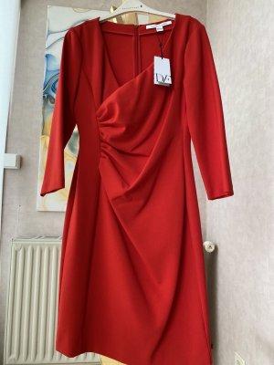 Diane von Furstenberg Vestido de manga larga rojo Lana