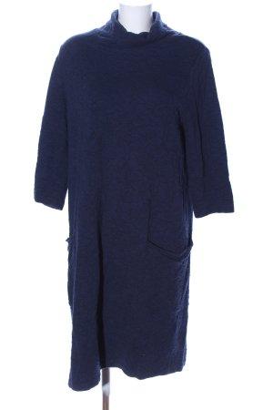 DW-Shop Langarmkleid blau Allover-Druck Casual-Look