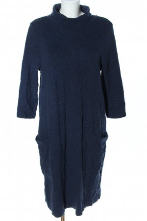 DW-Shop Langarmkleid blau grafisches Muster Elegant