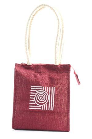 DW-Shop Stofftasche braun-weiß Motivdruck Casual-Look