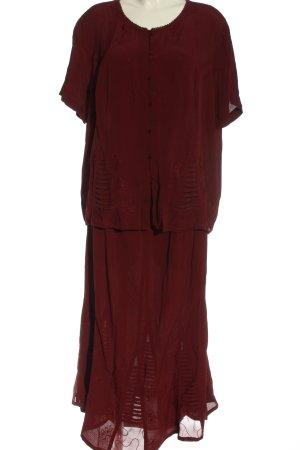 DW-Shop Dzianinowy podwójny zestaw  czerwony Elegancki