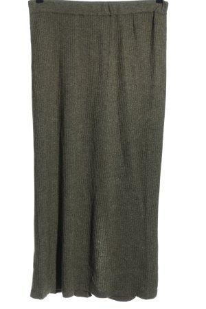 DW-Shop Falda de punto gris claro moteado look casual