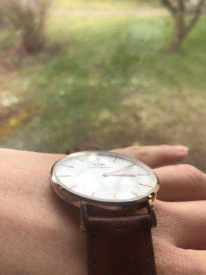 Daniel Wellington Horloge met lederen riempje bruin