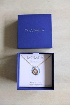 Dyadema Halskette Throat Chakra 925 Silber vergoldet NEU