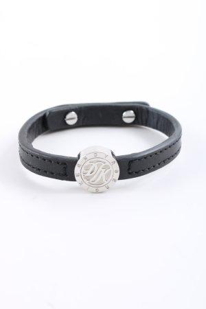 Dyrberg/Kern Armband schwarz-silberfarben Motivdruck Casual-Look
