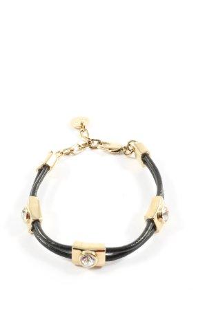 Dyrberg/Kern Bracelet noir-doré style mouillé