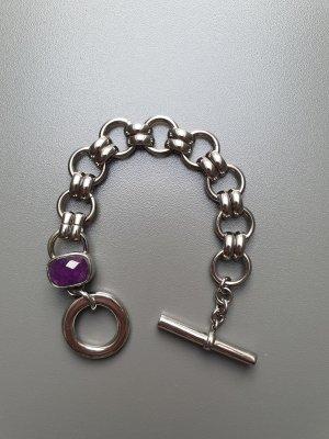 Dyrberg/Kern Bracelet argenté-violet foncé métal