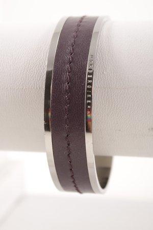 Dyrberg/Kern Armreif silberfarben-dunkelviolett Casual-Look