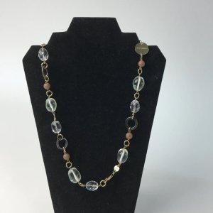 Dyrberg/Kern Damen Halskette Vintage Stil Glas edel Stahl