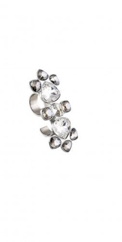 Dyrberg Kern double ring xxl Statementring  silber Swarovski Kristalle