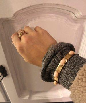 Dyrberg Kern  Armband gold mit Steinen apricot Coral armreif nickelfrei