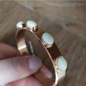 Dyrberg/ Kern Edelstahl gold Armband Armreif mit Steinen edel