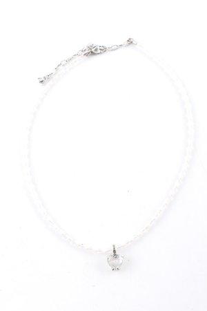 Dyrberg/Kern Ketting zilver-wit elegant