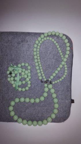 Dyrberg/Kern Kette & Armband Kugeln mintgrün hellgrün